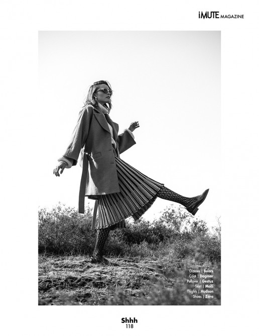 Leoni Höller photographed for Imute Magazine by Sebastian Brüll