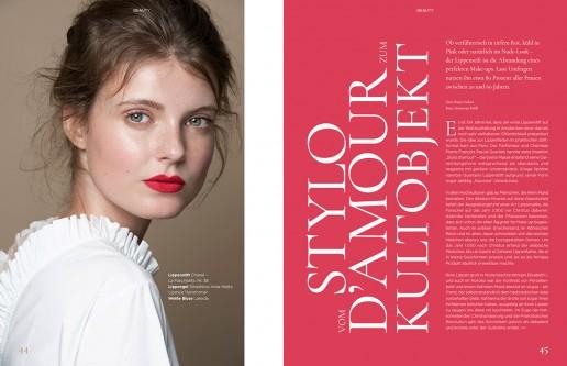 Anne Wunderlich shot by Sebastian Brüll for Königsallee Magazine